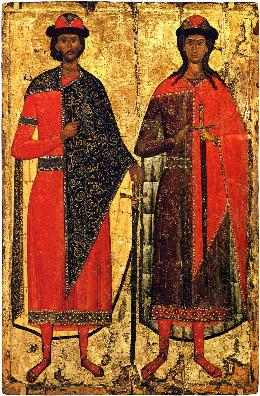 Борис и Глеб. Начало XIV в.